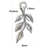 Sterling silver 18.5mm Twig with Leaves Charms